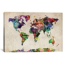 World Map Wall Decor maps wall decor - bed bath & beyond