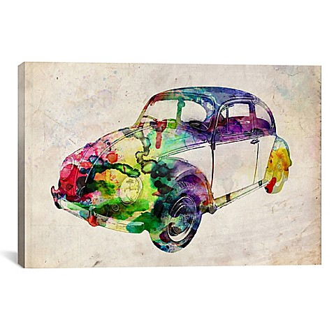 buy vw beetle urban 60 inch x 40 inch canvas wall art from bed bath beyond. Black Bedroom Furniture Sets. Home Design Ideas