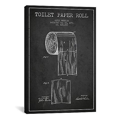 Toilet paper charcoal patent blueprint canvas wall art bed bath toilet paper charcoal patent blueprint canvas wall art malvernweather Gallery