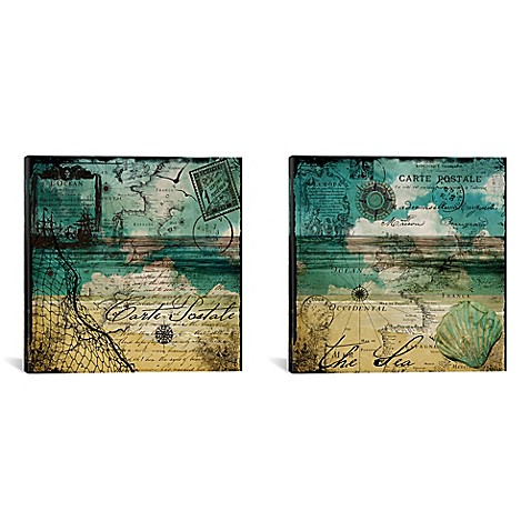ocean cloud diptych 60 inch x 30 inch canvas wall art bed bath beyond. Black Bedroom Furniture Sets. Home Design Ideas