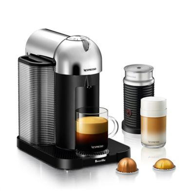 Coffee Maker For Coffee And Espresso : Nespresso by Breville VertuoLine with Aeroccino Coffee and Espresso Maker - Bed Bath & Beyond