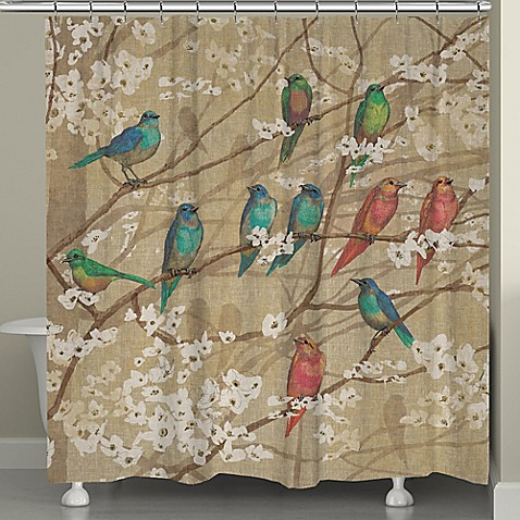 Laural Home Birds And Blossoms Shower Curtain Bed Bath Beyond