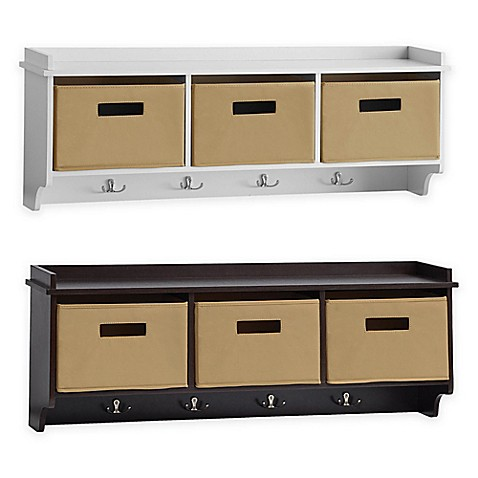 image of Real Simple  36 Inch Wall Mount Unit. Decorative Wall Shelves  Hooks   Corner Shelves   Bed Bath   Beyond