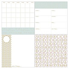 image of WallPops!® Dry-Erase 3-Piece Glamour Monogram Calendar/Planner/Notes Board Set