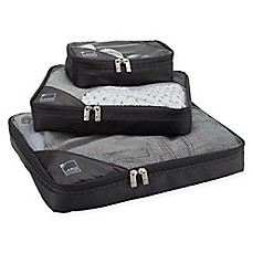 image of Packing Cubes in Black (Set of 3)