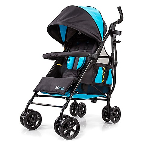 Summer Infant 174 3d Trek Convenience Stroller In Royal Blue