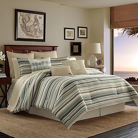 Tommy bahama canvas stripe reversible duvet cover set bed bath tommy bahamareg canvas stripe reversible duvet cover set gumiabroncs Image collections