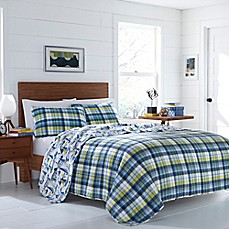 image of Poppy & Fritz Royce Reversible Quilt Set in Navy