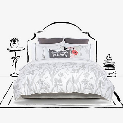 Kate Spade New York Brushstroke Garden Comforter Set Bed