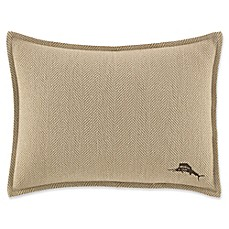 image of Tommy Bahama® Canvas Stripe Oblong Throw Pillow in Khaki