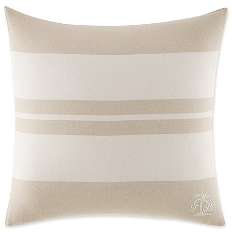 Tommy Bahama 174 Shoreline Striped Square Throw Pillow In