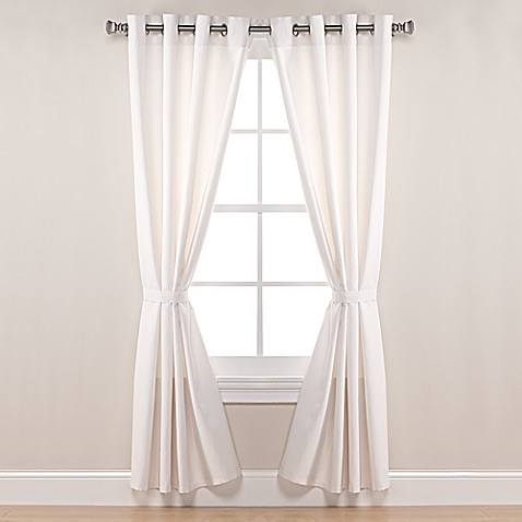 Pawleys Island Sunbrella Canvas Grommet Top Outdoor Curtain Panel In White Bed Bath Beyond