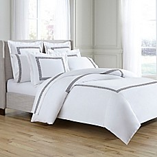 image of Kassatex Greek Key Duvet Cover