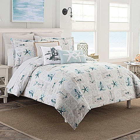 Coastal Life Nantucket Duvet Cover Set Bed Bath BeyondWhite Coastal Bedding