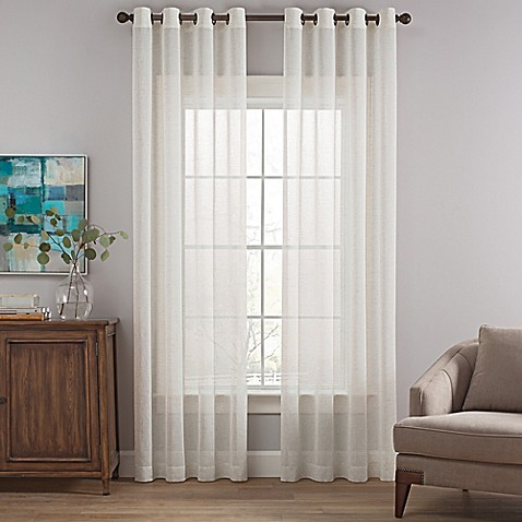 Costas Terra Nation Sheer Grommet Top Window Curtain Panel