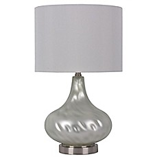 Table lamps desk lamps modern lamps bed bath beyond image of florence glass droplet table lamp mozeypictures Gallery