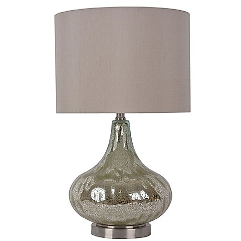 Buy Florence Mercury Glass Droplet Table Lamp With Grey