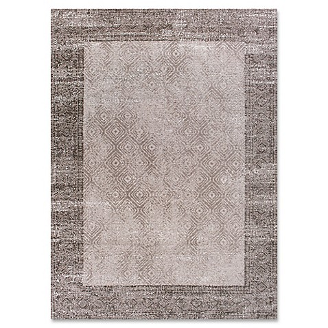 Retreat Border Rug In Taupe Bed Bath Amp Beyond