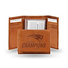 image of NFL New England Patriots Super Bowl LI Champions Leather Trifold Wallet
