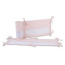 image of carter's® Woodland Meadow 4-Piece Secure-Me Crib Liner in Peach/White