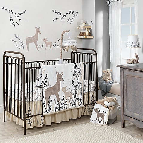 Lambs Amp Ivy 174 Meadow Deer Crib Bedding Collection In Tan