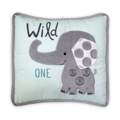 Grey Elephant Throw Pillow : Buy Lambs & Ivy Yoo Hoo Elephant Throw Pillow in Grey/Blue from Bed Bath & Beyond