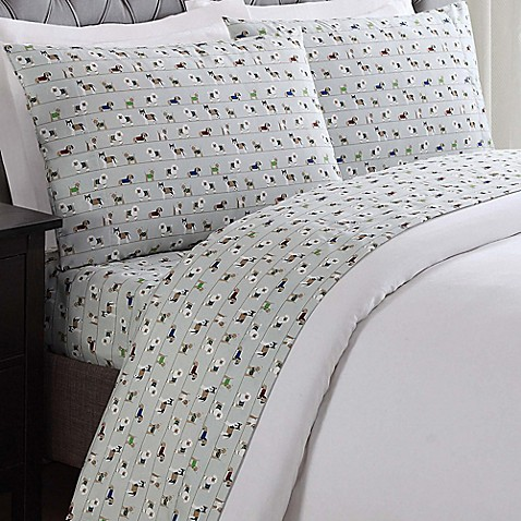 Buy truly soft dog print king sheet set in white from bed for How to buy soft sheets