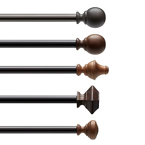 decorative curtain rods umbra 174 wood decorative window curtain hardware bed bath 29136