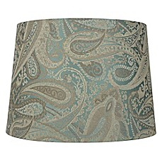 Lamp shades black blue red lamp shades bed bath beyond image of mix match medium 10 inch paisley tapered drum shade in green aloadofball Image collections