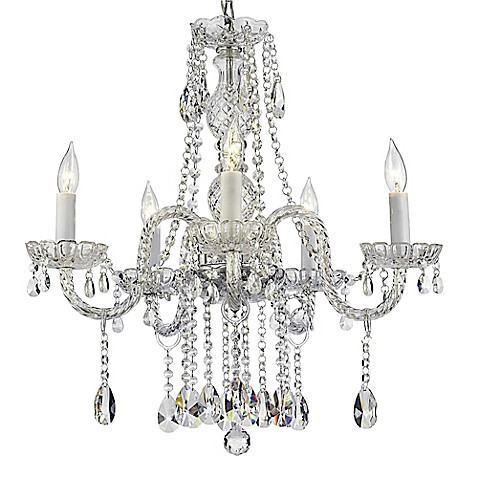 Venetian style 5 light crystal chandelier in clear bed bath beyond venetian style 5 light crystal chandelier in clear aloadofball Images