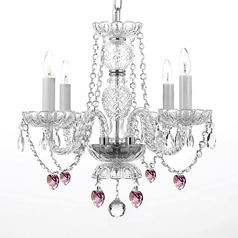 Venetian style 4 light crystal plug in chandelier in clear bed bath beyond - Sparkling small crystal chandelier designs for any interior room ...