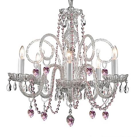Empress Crystal Plug In 5 Light Chandelier Bed Bath Beyond