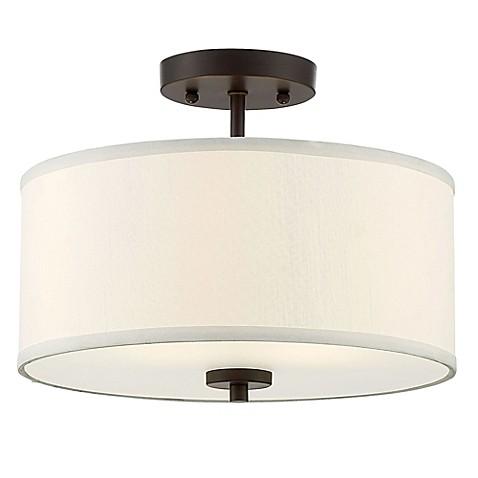 light semi flush mount ceiling fixture in oil rubbed bronze bed bath. Black Bedroom Furniture Sets. Home Design Ideas