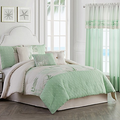 Palm light comforter set bed bath beyond for Matching bedroom and bathroom sets