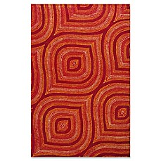 image of Donny Osmond Home Escape Raindrops Indoor/Outdoor Rug in Red