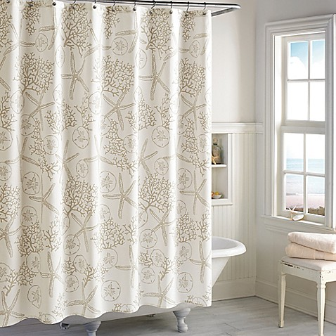 Sandy Bay Shower Curtain In Ivory Bed Bath Amp Beyond