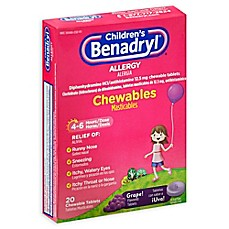 image of Children's Benadryl® 20-Count Allergy Chewables Tablets in Grape
