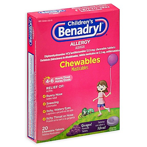Chewing benadryl