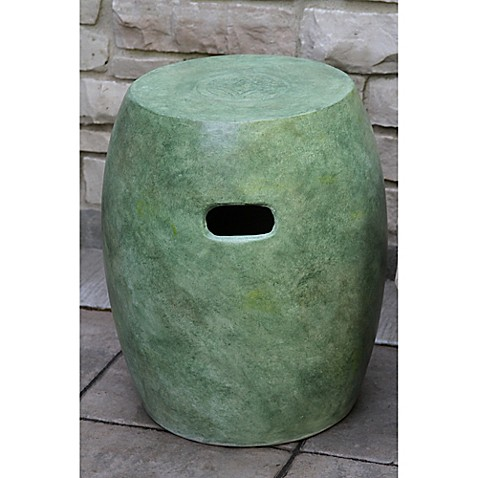 outdoor interiors urban washed concrete garden stool bed