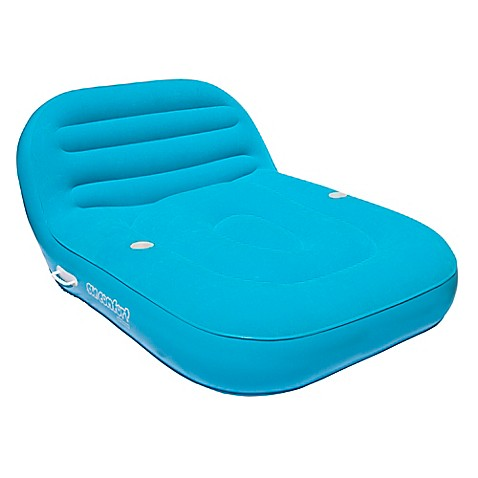 Sun Comfort Cool Suede Double Chaise Lounge Float In