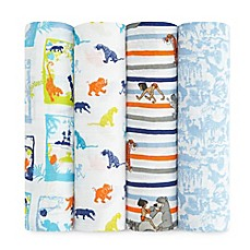 image of aden® Disney by aden + anais® 4-Pack Jungle Book Muslin Swaddle Blankets
