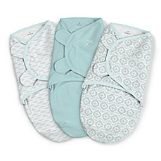 image of SwaddleMe® 3-Pack Small Newport Shores Original Swaddles in Aqua