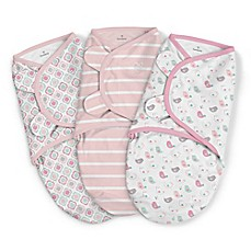 image of SwaddleMe® 3-Pack Large Fly Away Birds Original Swaddles in Pink