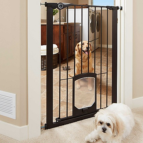 Mypet Passage 42 Inch Extra Tall Pet Gate With Small Pet