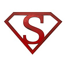image of Letter2word Babes & Kiddos Superman Icon 11-Inch x 15-Inch Wall Art