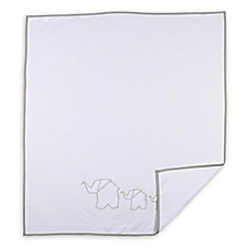 image of Living Textiles Sketchbook Matelassé Quilt in White