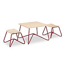 image of Kellan Kids Table with Stools in Red (Set of 3)