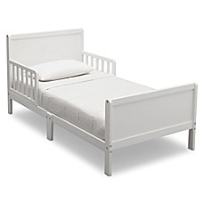 image of Delta Bianca Children Fancy Wood Toddler Bed in White