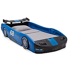 image of Delta™ Children Turbo Race Car Twin Bed in Blue