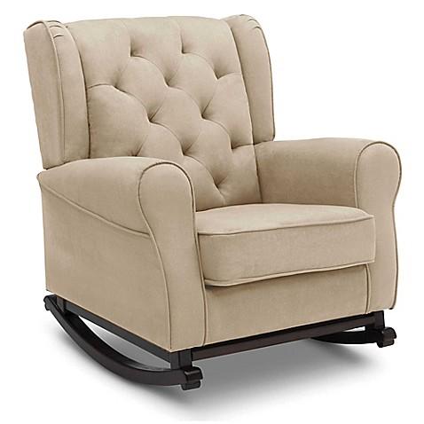 Delta Children Emma Tufted Nursery Rocking Chair In Beige